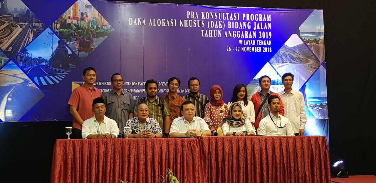 Pra Konsultansi Program DAK Bidang Jalan TA. 2019